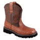 "Ladies ""Roper"" Chunk Ostrich Boots - Brown"