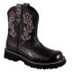 "Ladies ""Roper"" Chunk Ostrich Boots - Black"