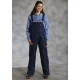 Roper Ladies Insulated Overalls - Navy Paisley