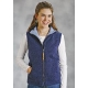 Roper Ladies Canvas Vest - Navy Paisley